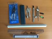 Staedtler Mars Compass 55600 + 5 Other Drawing Instruments And Engineerand039s Rule
