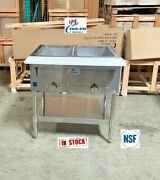 New 30 Food Wells Warmer Bain Marie Buffet Cafeteria 2 Compartment Natural Gas