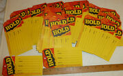85 Large Mercantile Colorfull Antique Old Store Hold Hang Tags Lot Yellow/red