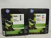 7-pack Hp Genuine 564xl Black And Color Ink No Retail Box 2022 3black 3 Color