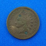 1876 P Indian Head One Cent Penny Type 3 Bronze Better Key Philadelphia Coin