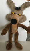 Vintage Warner Bros Wile E Coyote 24andrdquo Posable Plush 1993. Excellent Condition.
