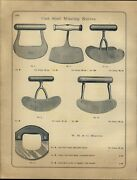 1888 Paper Ad Antique Early Cast Steel Mincing Knife Knives Mincer Kitchen Tool
