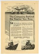 1917 Advance-rumely Thresher Co. Ad The Company Behind The Tractor You Buy