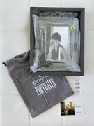 Nib New Waterford Crystal Wellesley Picture Frame Holds 4 X 6 Photos Easel Back