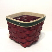Longaberger Basket And Single Protector Small Desktop Trinket New Bold Red New