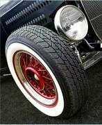 15 Inch X 3 Inch Wide Whitewall White Side Wall Topper Tire Trim Insert 4 Pcs