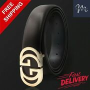 Women's Genuine Leather Double Belts For Jeans Belt For Women's And Men's Pants