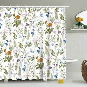 Nice Floral Botanical Farmhouse Gorgeous Chic Waterproof Fabric Shower Curtain