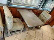 Rv Camper Motorhome Dinette Table And Chairs With Table Mount Wall Cabinet