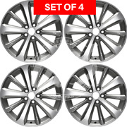 Four 19 Inch Replacement Alloy Silver Wheel Rim Fits Toyota Highlander 2008-2013