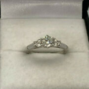 18ct White Gold Hallmarked 50pt Diamond Ring. Goldmine Jewellers.