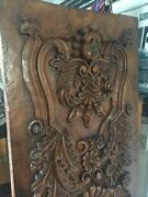 Large High Relief Carved Paneled Wall Art 6.75 Ft By 2.5 Ft