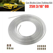Universal Brake Line Tubing Kit 3/16and039and039 Od 25ft Coil Roll With All Size Fittings
