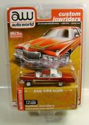 1976 '76 Cadillac Coupe Deville Burgundy Lowriders Mijo Auto World Diecast 2020