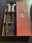 Arthur Court Thanksgiving Turkey Stainless Steel Carving Fork And Knife Set