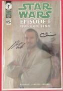 Star Wars Qui-gon Jinn - 1 - Dynamic Forces - Glow-in-the-dark Signed - Dhc