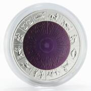 Latvia 1 Lats Coin Of Time Ii Silver Niobium Coin 2007