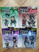 Set Of 4 Kiss Psycho Circus Figures, Mcfarlane Toys 1998, All Mint On Card