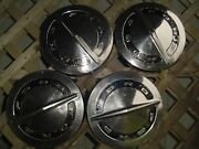 Vintage Ford Galaxie Fairlane Ltd Police Pickup Hubcaps Wheel Covers Center Caps