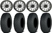 System 3 Sb-3 Machined 15 Wheels 33 Coyote Tires Polaris Rzr Turbo S / Rs1