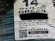 Colonial Wire 14awg Solid Thhn/thwn-2/mtw Building Wire Cable Green /100ft