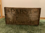 Pabst Blue Ribbon Pre-prohibition Wood Crate| Pbr | Rare