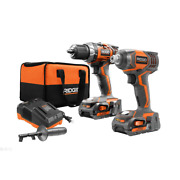 18-volt Lithium-ion Rigid Cordless Drill/driver And Impact Driver Combo Kit