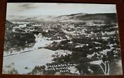 Old Original Rppc Binghamton Ny Town View From South Mountain Real Photo Vtg Pc