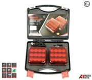 Wireless Led Red Warning Lights Front Rear Battery Operated Usb Magnetic E9 Hq