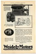 1920 Weidely Motors Ad Bulldog Motors For Tractors And Trucks - Indianapolis, In