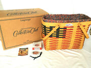 Longaberger Magazine Flag Basket Protector Liner Tie On Collector Club Box New