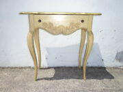 Antique Vanity Table Wood Desk Vintage Regency Country French Provincial Writing