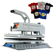 New Enhanced 16and039and039x20 T-shirt Heat Press Machine Swing Away Digital Touch Screen