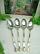 4 International Wm Rogers Royal Pageant Silverplate Place Soup Spoons 1937