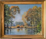 Leroy Greene Montana Oil On Canvas Tranquil And Calm 1963 Signed