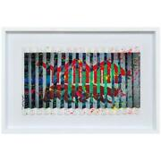 E.m. Zax- One-of-a-kind 3d Polymorph Mixed Media On Paper Wall Street