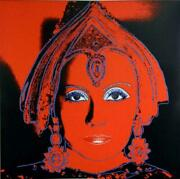 Andy Warhol- Screenprint In Colors With Diamond Dust The Star 1981