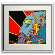Peter Max- Original Vintage Hand Pulled Serigraph On Paper Untitled