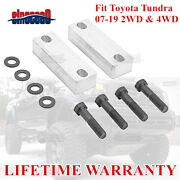 Billet Aluminum Sway Bar Drop Relocator Brackets Kit 4and039and039 Lift For Toyota Tundra