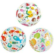 Besportble 3pcs Beach Pool Balls Toys Inflatable Clear For Summer Party Fun -