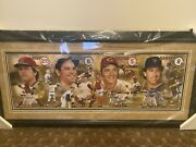 Hall Of Fame Catchers Autographed Panoramic Fisk Yogi Bench Carter Steiner Cert