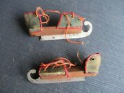 3 1/4 Long Antique Miniature Ice Skates For French Fashion Doll