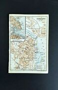 Antique Maps - Constance, Germany - 1909