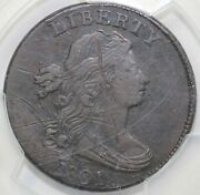 1801 1c S-215 Draped Bust Lage Cent Pcgs Secure Vf Detail Scratch