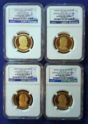 2012 S Ngc Pf69 Early Releases Presidential Dollar Four Coin Set Blue Label