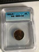 1931-s 1c Icg Ms 64 Rd Lincoln Wheat Cent