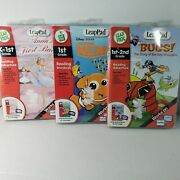 Leap Pad Learning System Reading Adventures Lot Of 3 Cartrid W Interactive Book