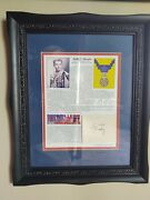 Audie Murphy Photo Information Autograph W/frame Ww2 Medal Of Honor Receipiant