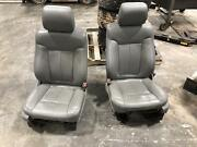 2011-2014 Ford F150 Front Seat 40/20/40 Grey Leather Heat Cool Power